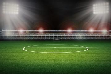 empty stadium with soccer field