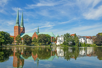 Dom zu Lübeck am Mühlenteich