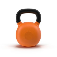 Kettlebell isolated on white 3D Illustration