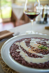 Risotto with wine