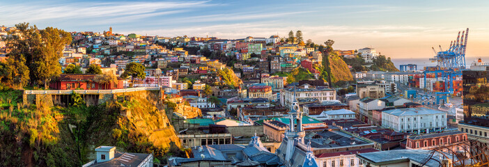 Colorful buildings of Valparaiso, Chile
