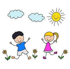 Cartoon kids icon