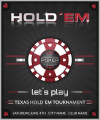 Texas holdem poker tournament poster.