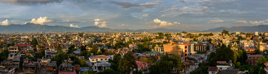 Panoramic view of Kathmandu from Patan