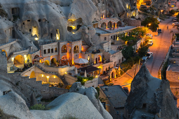Fototapete - The town Goreme in the night