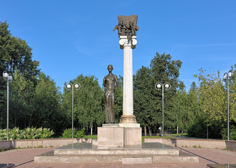 Tomsk, Russia. Monument to the Students of Tomsk or Monument to Saint Tatiana, a patroness of students.