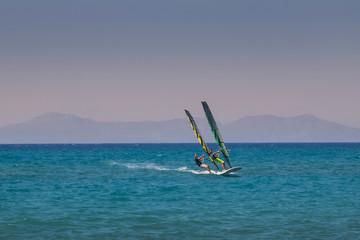 Tandem Windsurfing in Rhodos