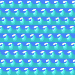 Sea Wave Background. Nature Blue Water Pattern