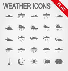 Weather icons. Flat.