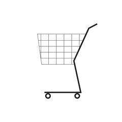 Shooping cart symbol. Icon