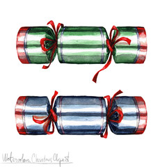 Poster Waterverf Illustraties Watercolor Christmas Clipart - Crackers
