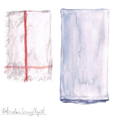 Watercolor Serving Clipart - Napkin