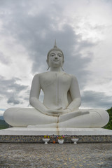 White Buddha statue in Tak province Thailand