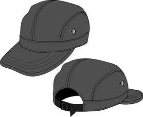 Illustration of baseball cap (headgear)