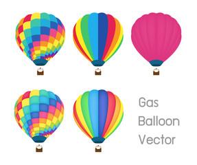 gas balloon vector