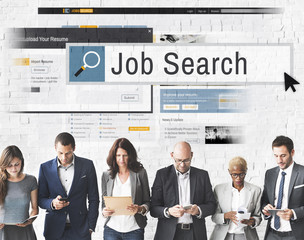 Job Search Human Resources Recruitment Career Concept