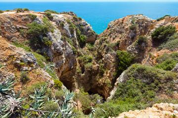 Atlantic rocky coast (Ponta da Piedade, Lagos, Algarve, Portugal