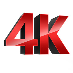4K ultra high definition television technology red logo