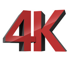 4K ultra high definition television technology logo