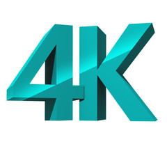 4K ultra high definition television technology logo