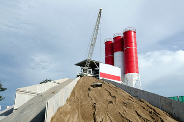 Cement plant ,mix concret
