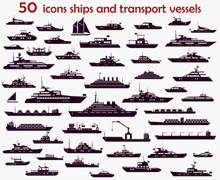 50 vector icons  ships