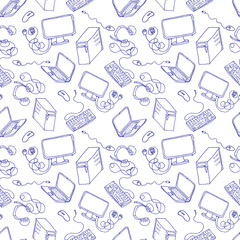 computer seamless hand drawn pattern.