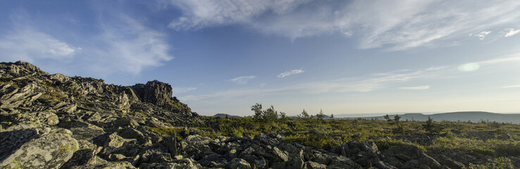 The panorama of the Nothern Urals