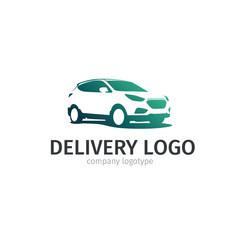 Car repair or delivery service label. Vector logo design template.