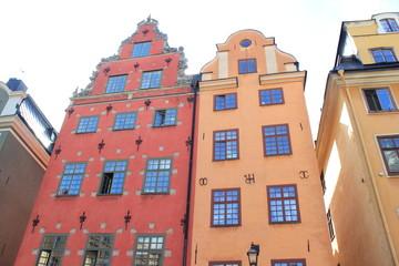 Schantzska Huset: Historische Giebelhäuser in der Altstadt von Stockholm (Schweden)