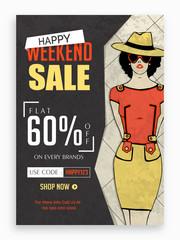 Weekend Sale Poster, Banner or Flyer design.