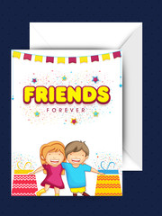 Greeting Card for Friendship Day celebration.