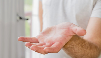 Empty businessman hand
