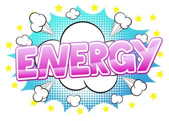 Comic Sound Effect Energy