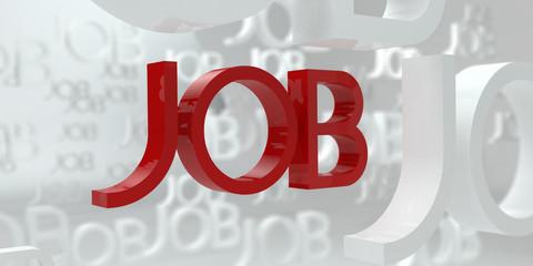 Find Suitable Job, 3D Illustration
