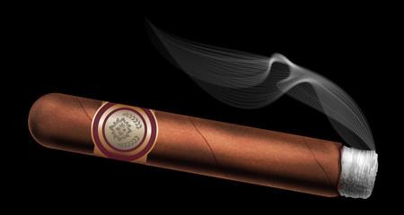 Cigar. Vector illustration.