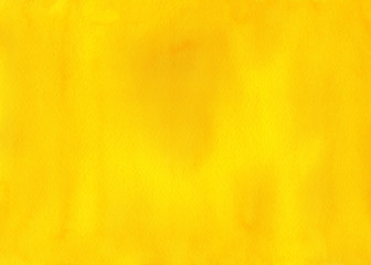 Abstract yellow watercolor background.