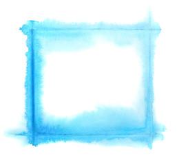 Light blue watercolor frame