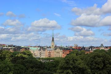 Panorama: Die Skyline von Stockholm (Schweden)