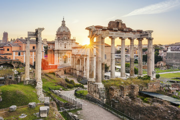 Famous Roman Forum in Rome