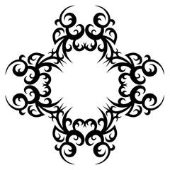Vector calligraphic element. Decorative silhouettes.