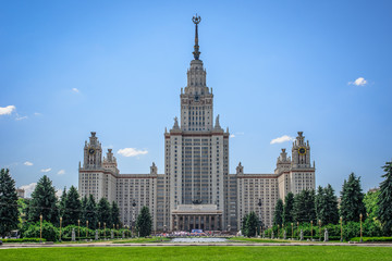 MGU - Moscow State University building, Russia