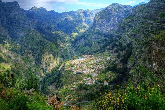 The pathway that begins at Eira do Serrado down to Curral das Freiras through the Nuns Valley Madeira.
