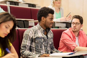 group of international students on lecture