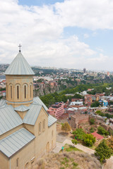 The Church of St. Nicholas in the fortress Narikala in Tbilisi. The Republic Of Georgia
