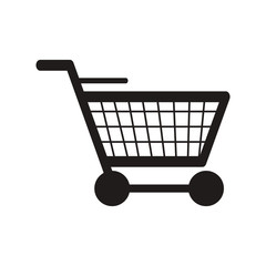 flat design shopping cart icon vector illustration