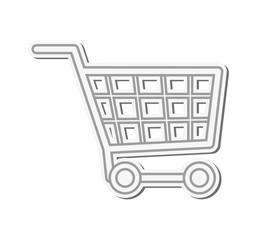 flat design shopping cart icon vector illustration