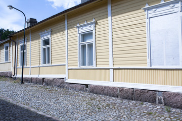 Loviisa, Finland. Historic building in the old town