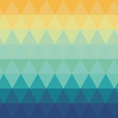 flat design triangle ombre pattern background vector illustration