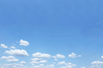 cloudy blue sky with blank copyspace